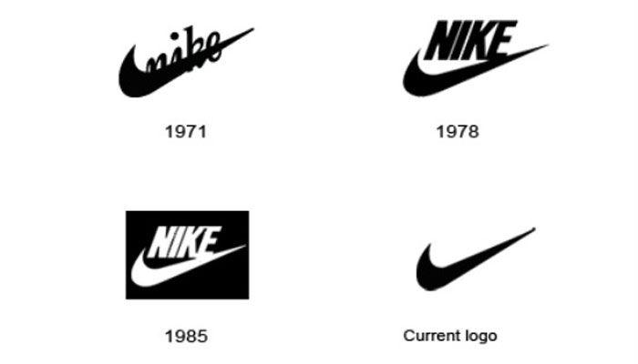 evolucion logotipo Nike Swoosh