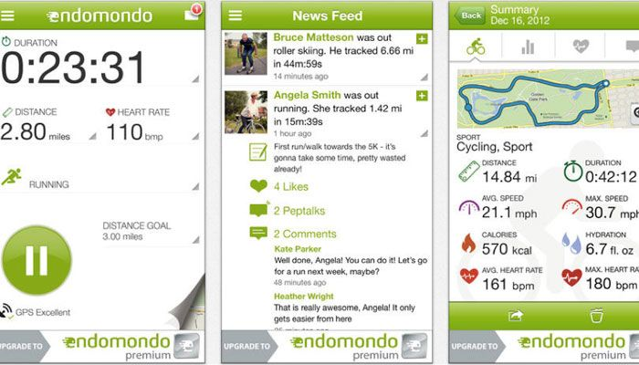 app iPhone Endomondo