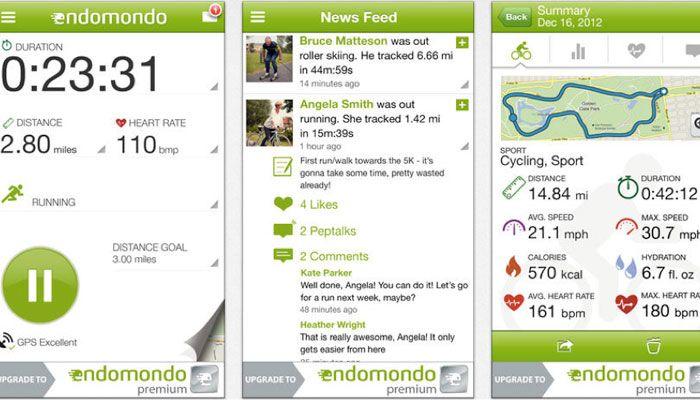 app iPhone Endomondo