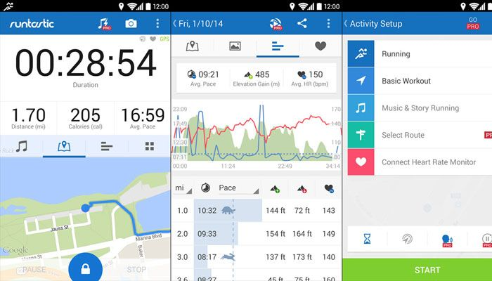 app iPhone Runtastic