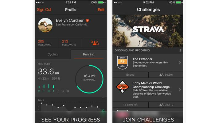app strava running iPhone