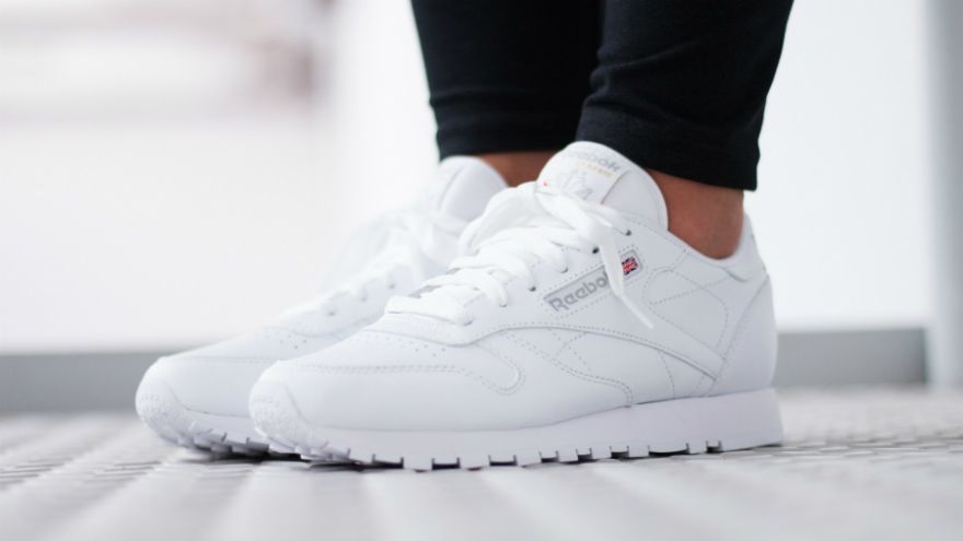 reebok classic leather blancas y negras