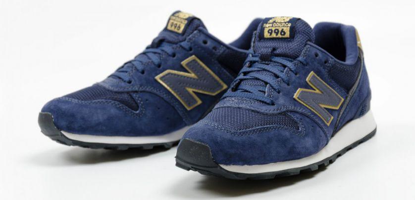 new balance 996 azul y dorado