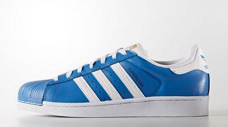 adidas superstar azules y blancas