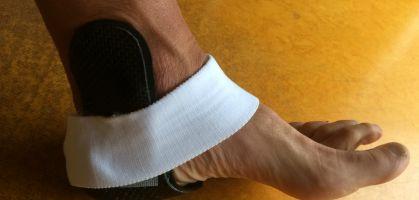 Como curar un esguince tobillo mediante férulas de protección