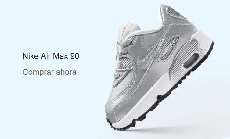 the best attitude 3eb54 00173 La zapatilla Nike Air Max 90 SE Leather para bebé y niños de hasta 3 años  es perfecta para el día a día gracias a su magnífica comodidad.