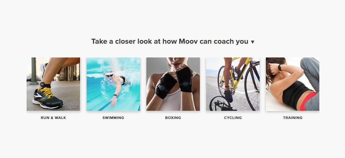 pulsera de actividad Moov Now