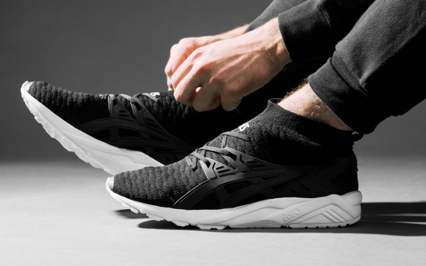 asics tiger gel kayano trainer evo knit