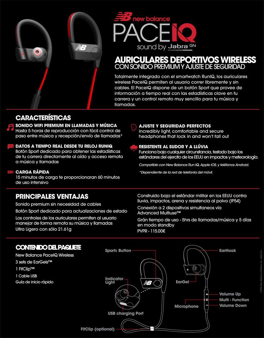 Auriculares deportivos PaceIQ de New Balance - foto 1