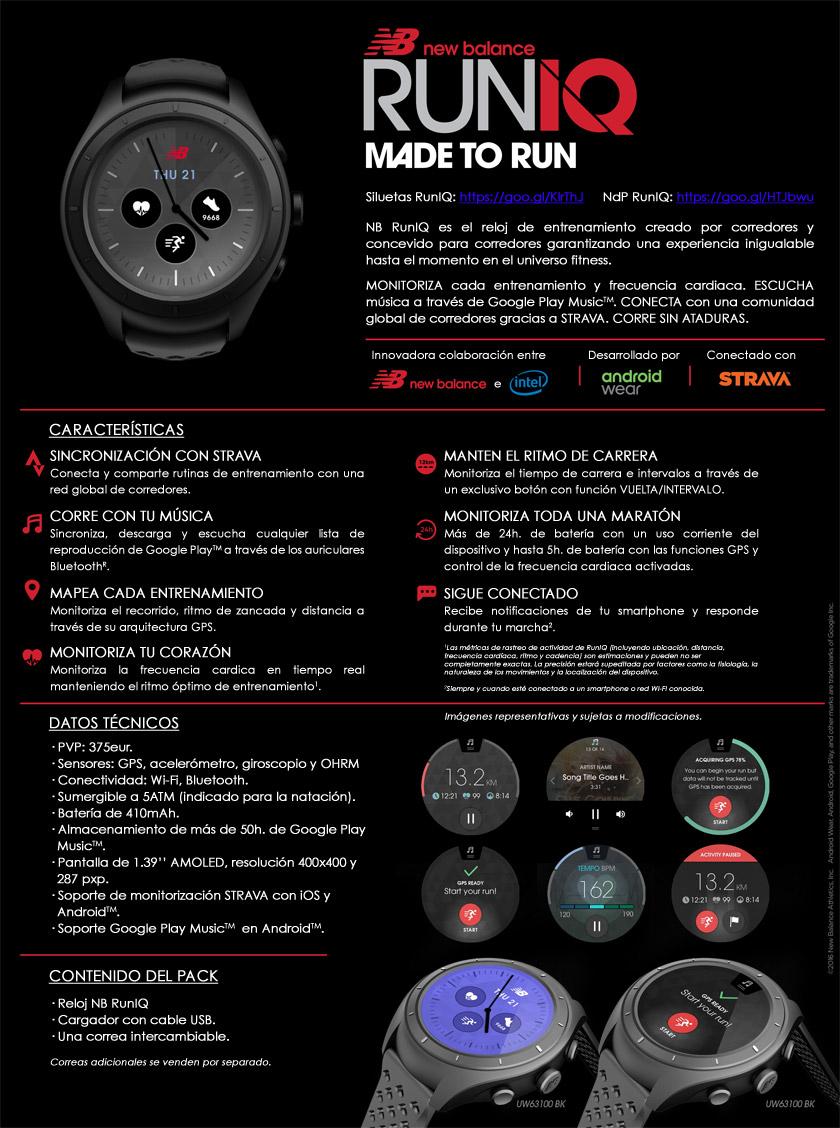 Smartwatch RunIQ de New Balance