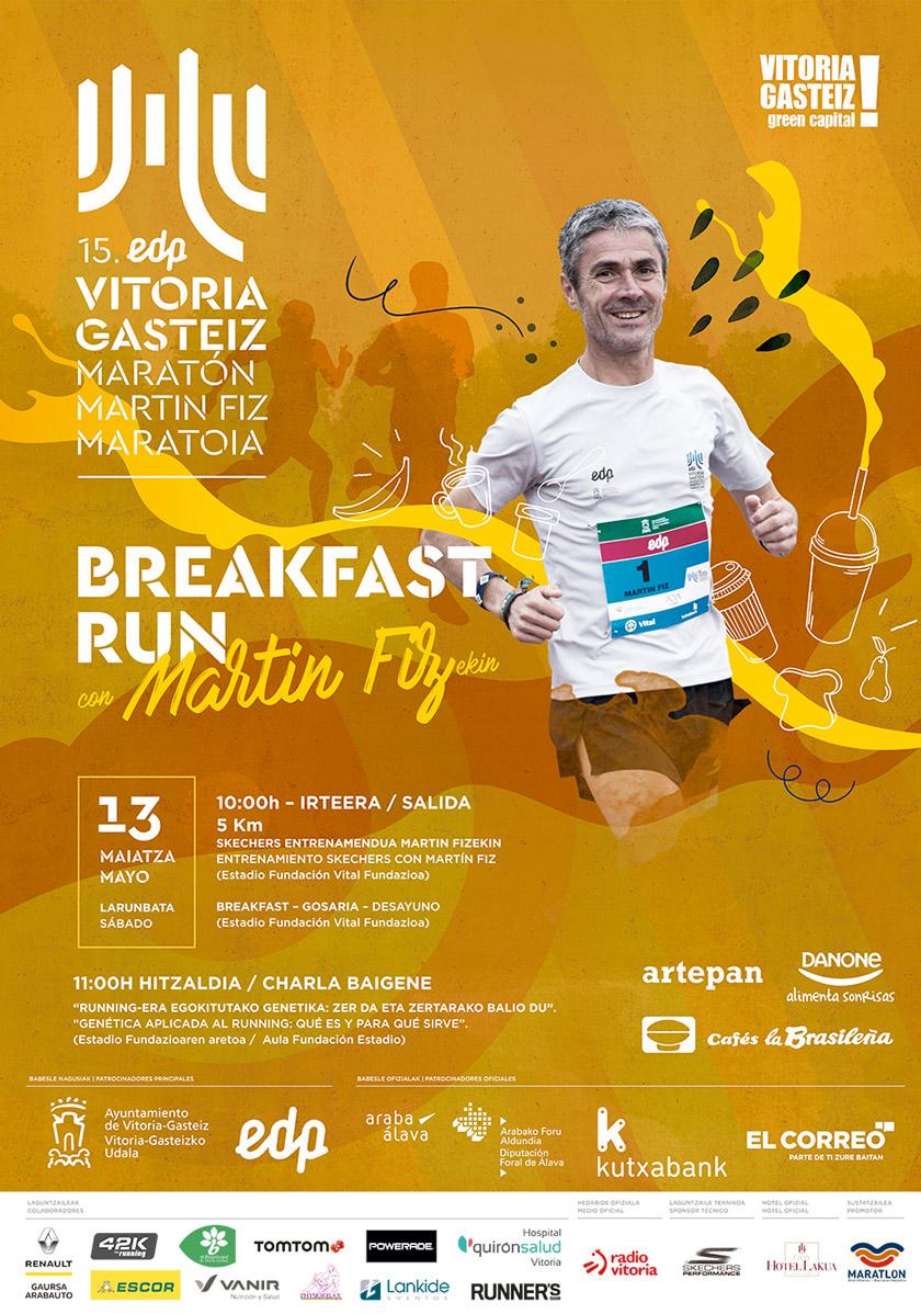 El EDP Vitoria-Gasteiz Maratón Martín Fiz 2017, en parrilla de salida y calentando motores - Breakfast Run