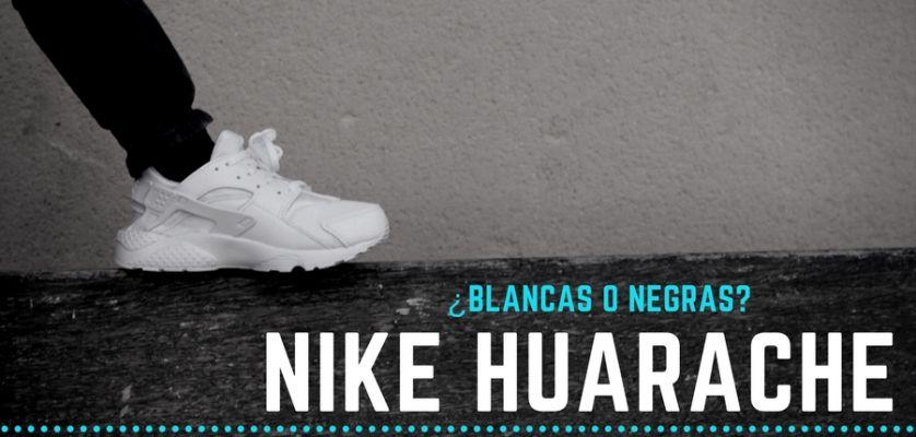 nike huarache blancas y negras