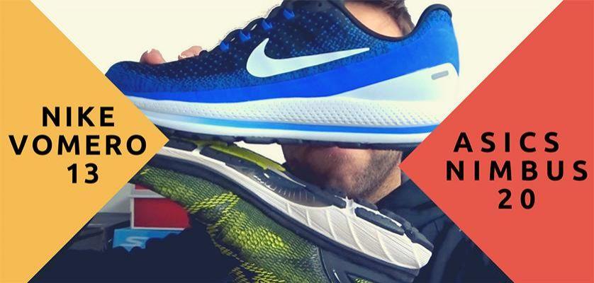ASICS Nimbus 20 vs Nike Vomero 13, duelo de topes de gama