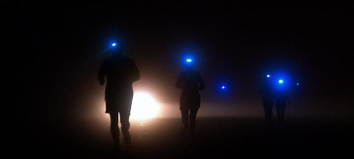 correr de noche frontal