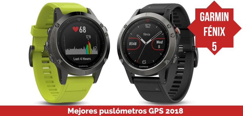 Los mejores pulsometros GPS 2018 - Garmin Fénix 5