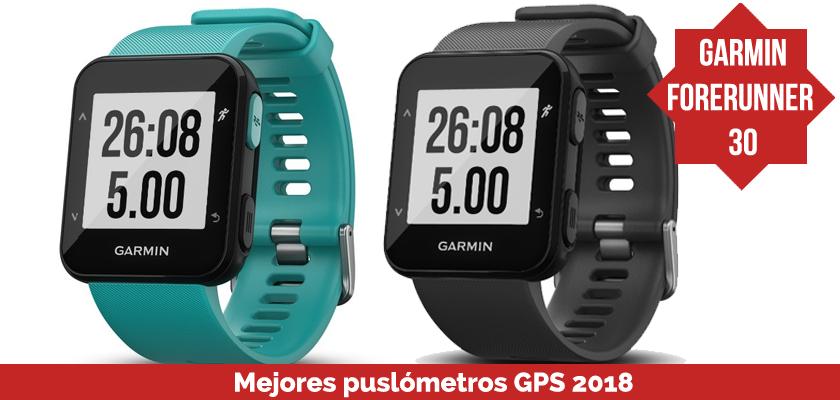 Los mejores pulsometros GPS 2018 - Garmin Forerunner 30