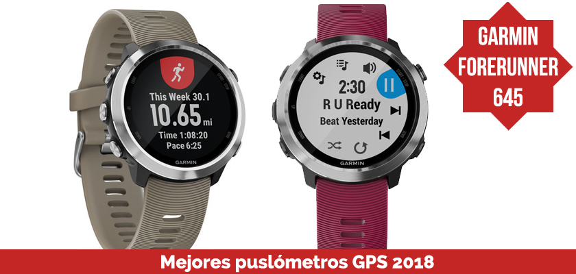 Los mejores pulsometros GPS 2018 - Garmin Forerunner 645