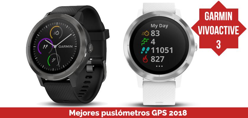 Los mejores pulsometros GPS 2018 - Garmin Vivoactive 3