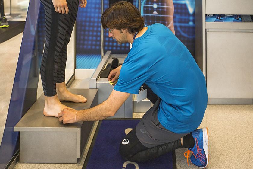 ASICS Foot ID, análisis de la pisada estático