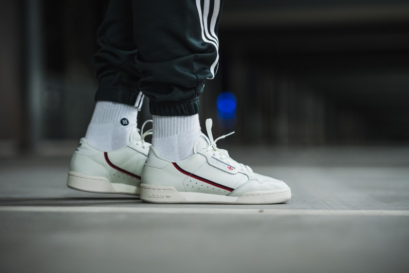 adidas continental 80 on feet white