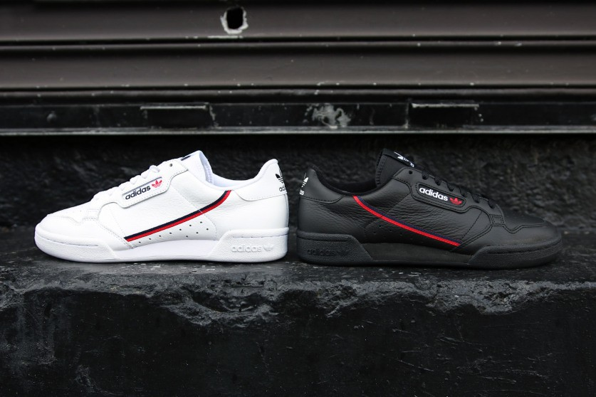 adidas continental 80 black and white