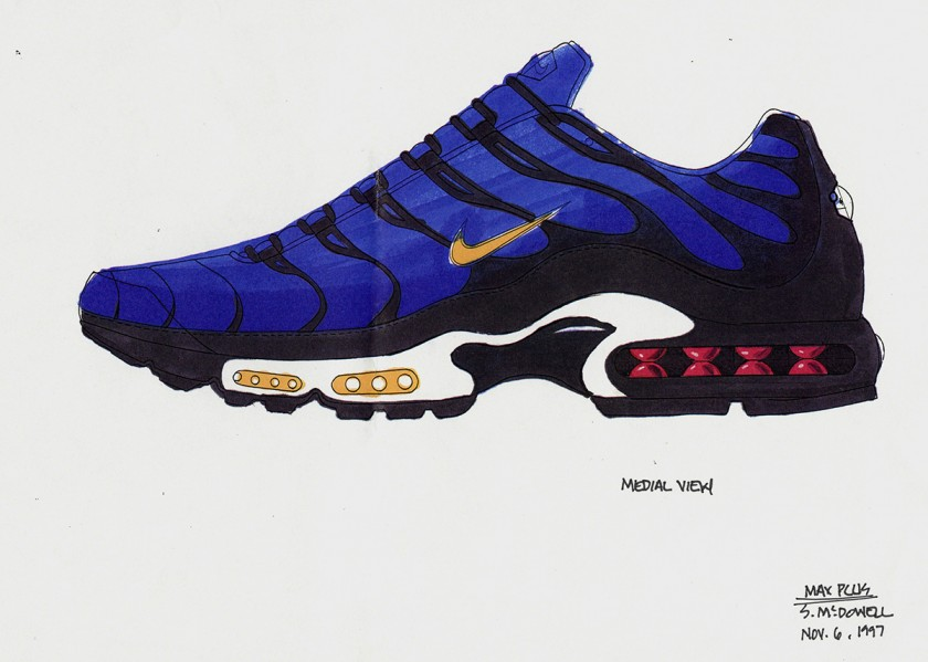boceto nike air max plus
