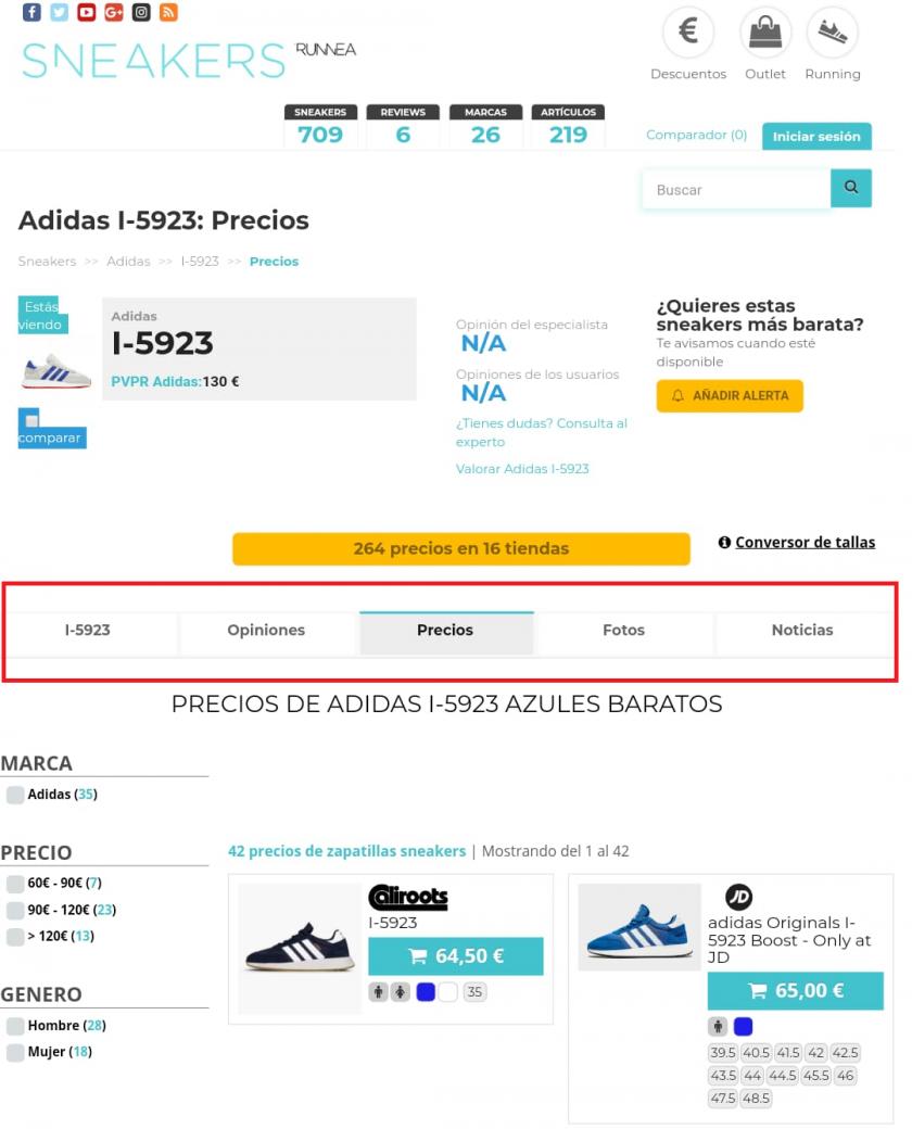 sneakers runnea buscador de precios reviews, características, opiniones...