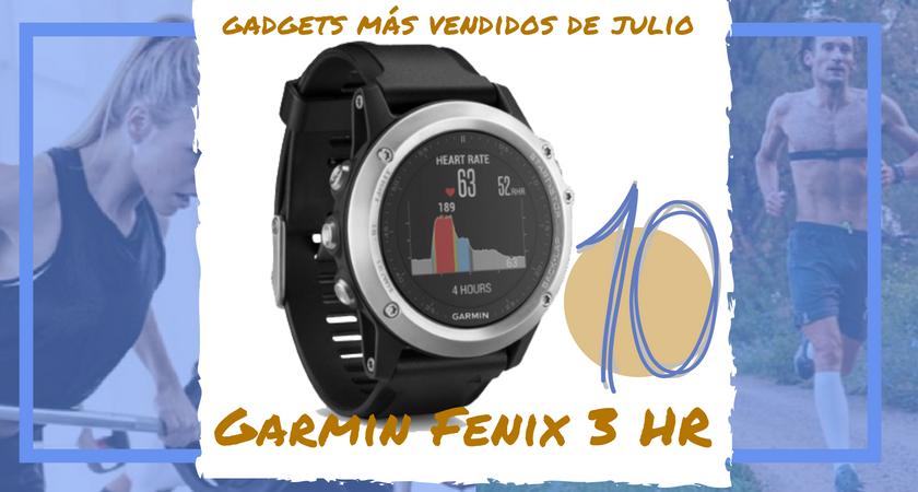 Los 10 gadgets deportivos de entrenamiento más vendidos del mes de julio - Garmin Fenix 3 HR