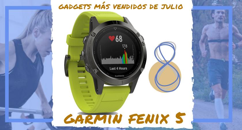 Los 10 gadgets deportivos de entrenamiento más vendidos del mes de julio - Garmin Fenix 5