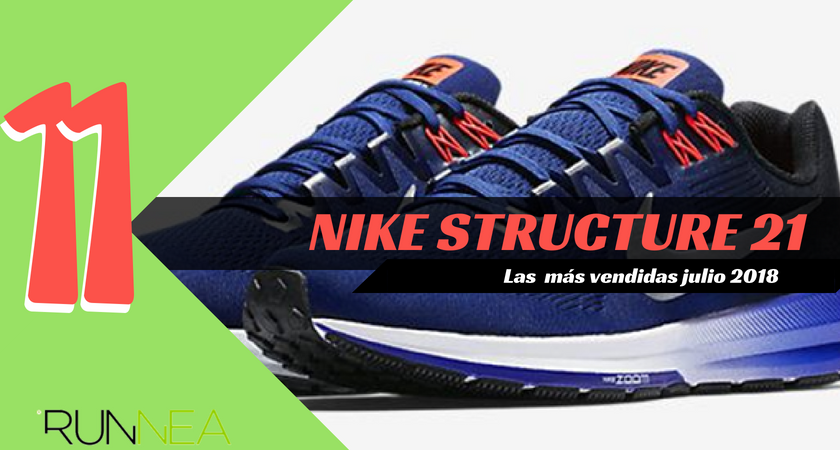 Las 15 zapatillas de running más vendidas del mes de julio 2018 - Nike Structure 21