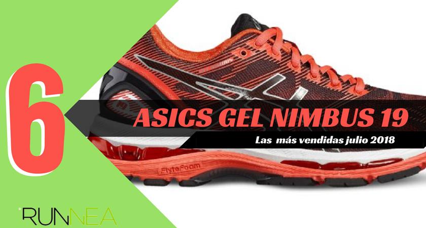 Las 15 zapatillas de running más vendidas del mes de julio 2018 - ASICS Gel Nimbus 19