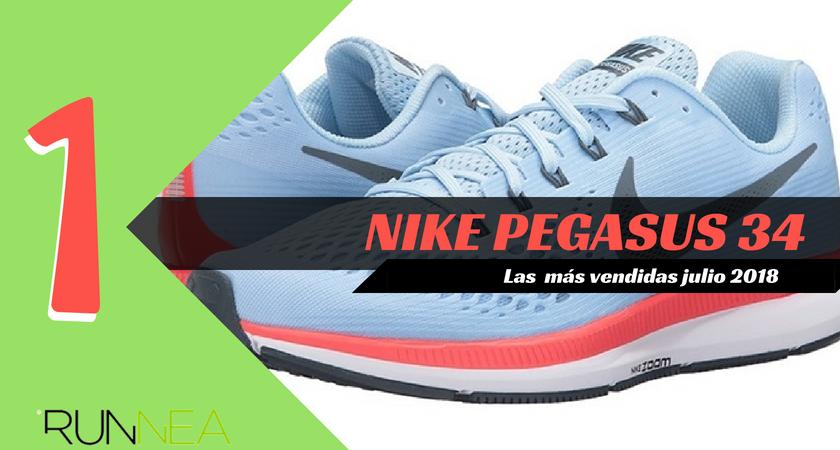 Las 15 zapatillas de running más vendidas del mes de julio 2018 - Nike Pegasus 34