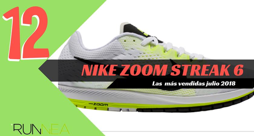 Las 15 zapatillas de running más vendidas del mes de julio 2018 - Nike Zoom Streak 6