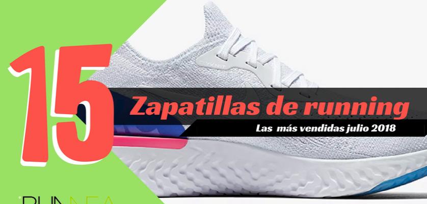 Las 15 zapatillas de running más vendidas del mes de julio 2018