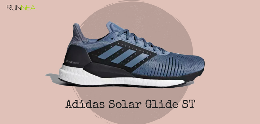innovative design 12d5f 2f5b7 Mejores zapatillas de running tope de amortiguación 2018 para runneantes  pronadores, Adidas Solar Glide ST