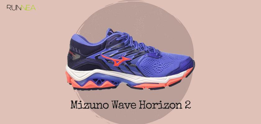 Mejores zapatillas de running tope de amortiguación 2018 para runneantes pronadores, Mizuno Wave Horizon 2