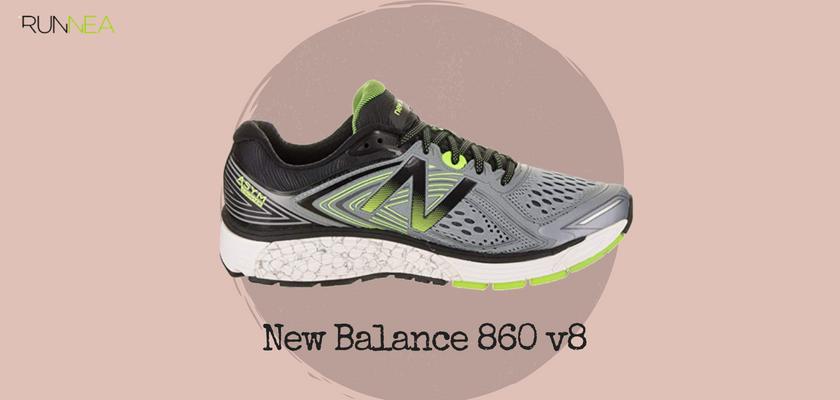 Mejores zapatillas de running tope de amortiguación 2018 para runneantes pronadores, New Balance 860 v8