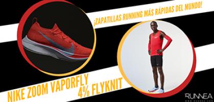 Nike Zoom Vaporfly 4% Flyknit, las zapatillas de running de Eliud Kipchoge, el maratoniano más rápido del planeta