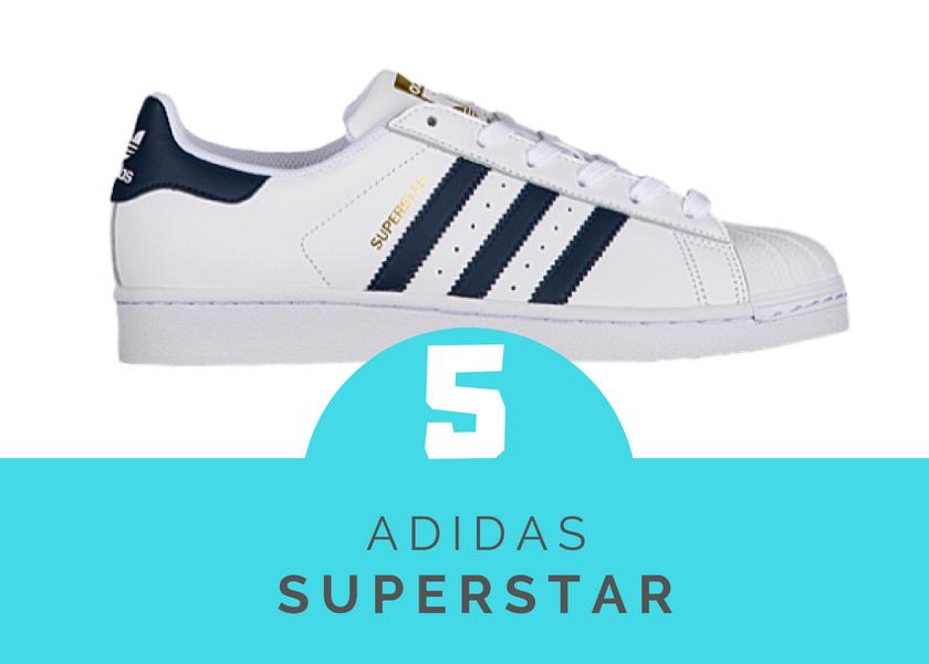 adidas superstar mas vendidas 2018