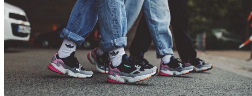 chunky sneakers adidas falcon