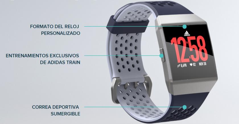 Fitbit Ionic Edición Especial adidas diseño