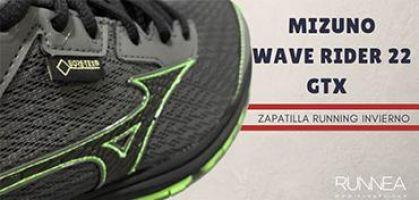 """Mizuno Wave Rider 22 GTX: """"Winter is Coming"""", zapatilla de running total para correr en invierno"""