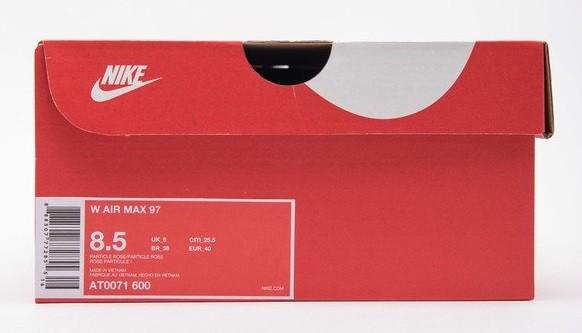 caja original de nike air max 97