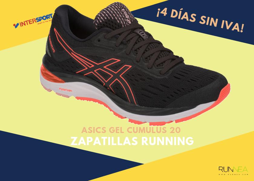 uk availability 8d5de 780d0 Zapatillas de running en Intersport  ¡4 días sin IVA! - ASICS Gel Cumulus