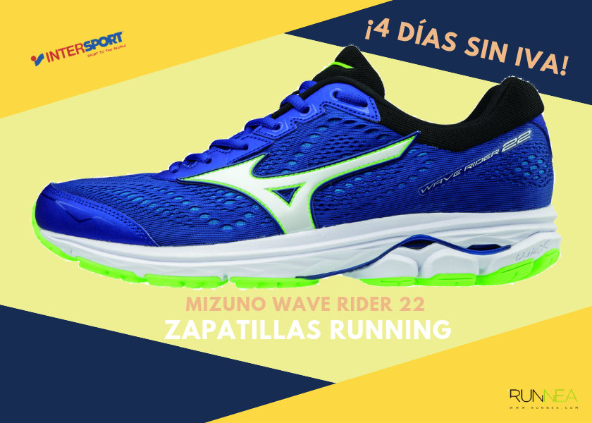 Zapatillas running en Intersport con 4 días sin IVA - Mizuno Wave Rider 22 37d44b701b649