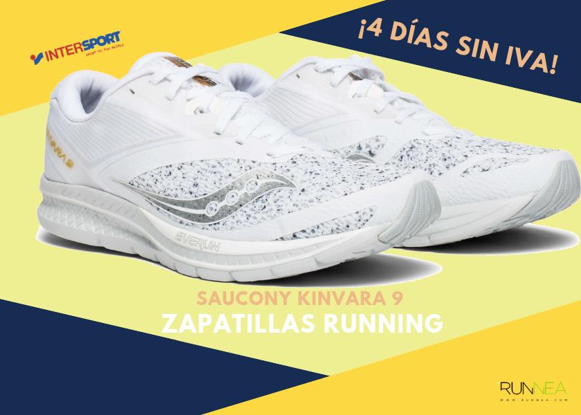 timeless design 8f18d 6ca1c Zapatillas de running en Intersport  ¡4 días sin IVA! - Saucony Kinvara 9