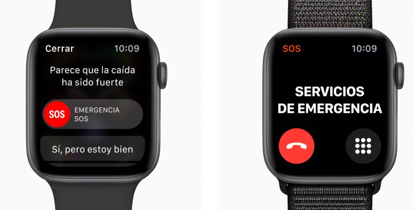 apple watch series 4 llamada de emergencia