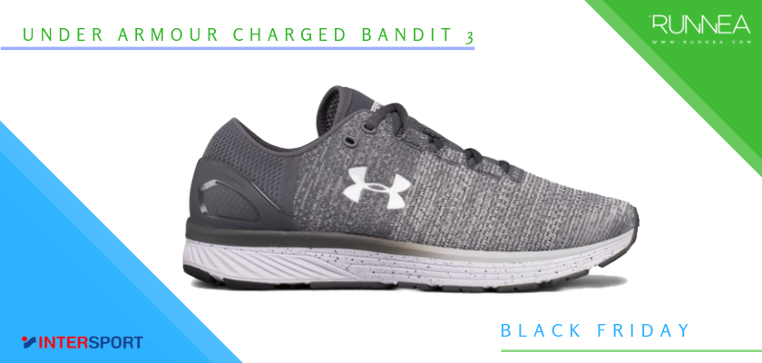 Intersport Black Friday 2018: Las 6 mejores ofertas en zapatillas running y pulsómetros, Under Armour Charged Bandit 3