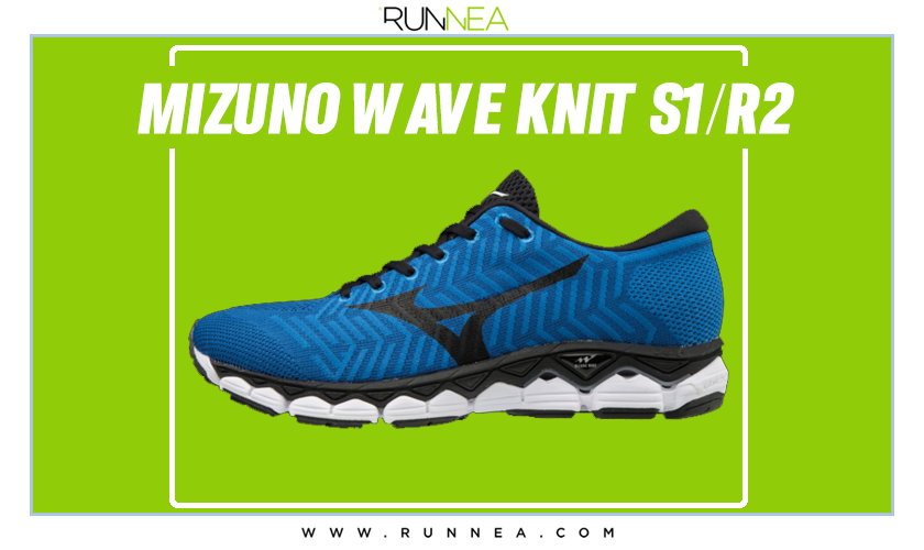 Zapatillas de running Mizuno tope de gama para corredores neutros - Mizuno Wave Knit R2/S1