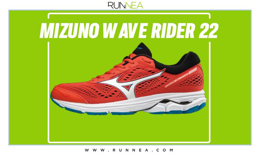 Zapatillas de running Mizuno tope de gama para corredores neutros - Mizuno Wave Rider 22